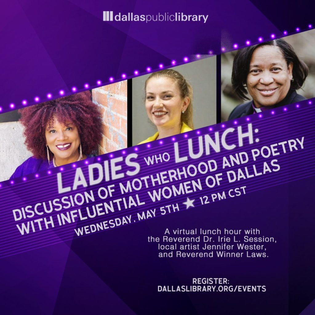 poetry-and-motherhood-on-the-agenda-for-dallas-librarys-next-ladies-who-lunch